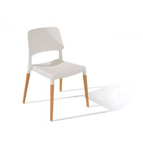 M lanie lot 4 chaises blanches - Lot 4 chaises blanches ...