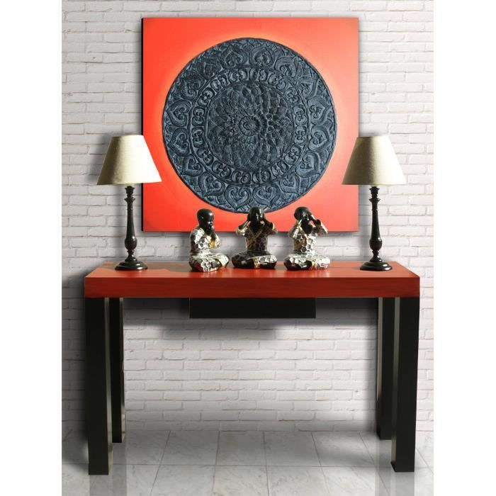 console meuble dentre rouge chinois mao - Console Meuble D Entree