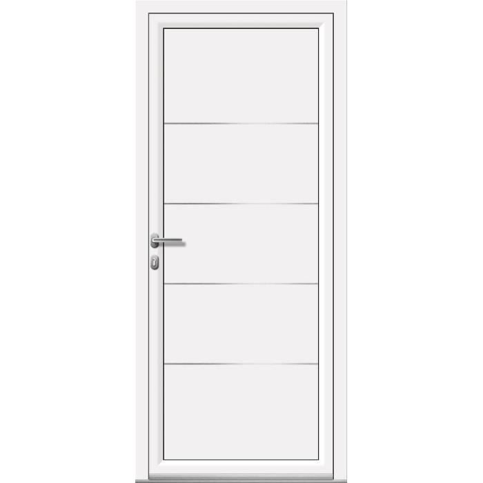 porte d 39 entr e aluminium nao 5 de l90xh200cm gris achat vente porte d 39 entr e porte d 39 entr e. Black Bedroom Furniture Sets. Home Design Ideas