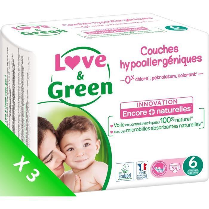 COUCHE LOVE AND GREEN Couches écolabellisées T6 - 102 cou
