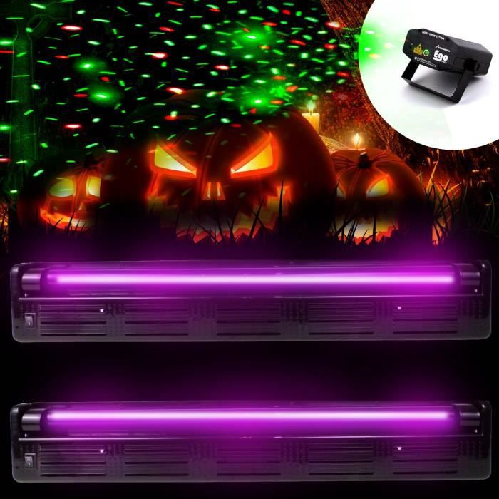 2 r glettes tube n on uv lumi re noire laser light soir e halloween pack lumi re avis et. Black Bedroom Furniture Sets. Home Design Ideas