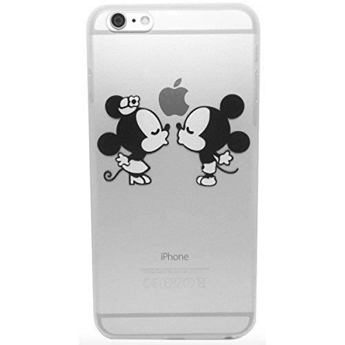 dessin anim noir mitch minnie romantique baiser de pomme soft gel tpu etui coque case cover. Black Bedroom Furniture Sets. Home Design Ideas