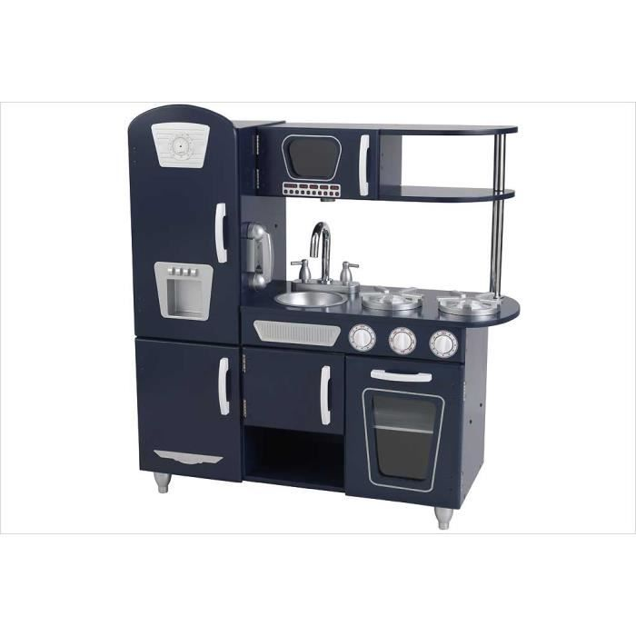 cuisine enfant vintage bleu marine achat vente dinette cuisine cdiscount. Black Bedroom Furniture Sets. Home Design Ideas