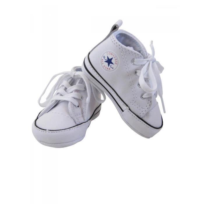 converse baskets cuir b b fille converse blanc achat vente basket cdiscount. Black Bedroom Furniture Sets. Home Design Ideas