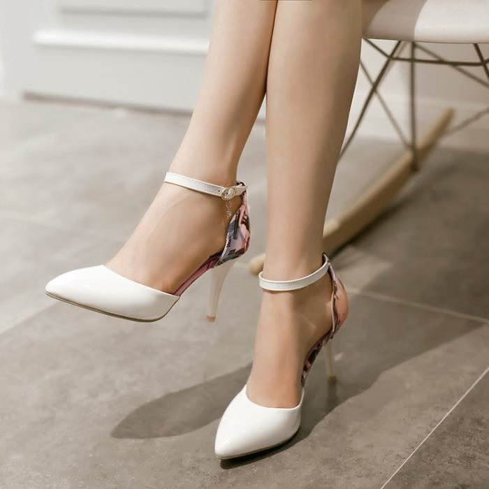 talons hauts-Pure Color Thin Band Heel femmes R...