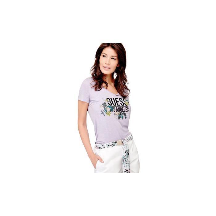T-SHIRT Guess T Shirt Knot imprimé Parme W82I10
