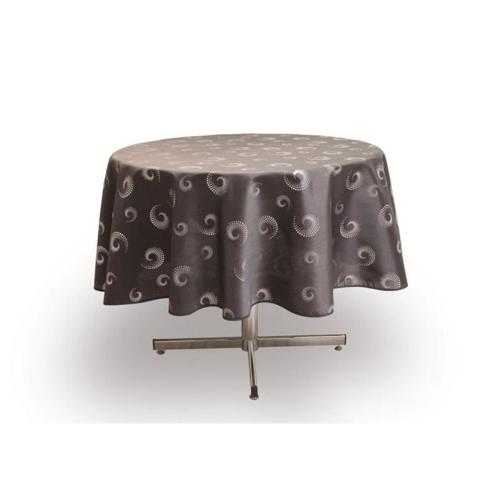 Nappe ronde spirales anthracite achat vente nappe de - Table ronde nappe ...