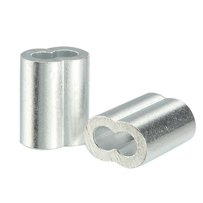 5mm Câb Métallique Manchons En Aluminium s Câb Bouc Clip Manchon À Sertir 10Pcs