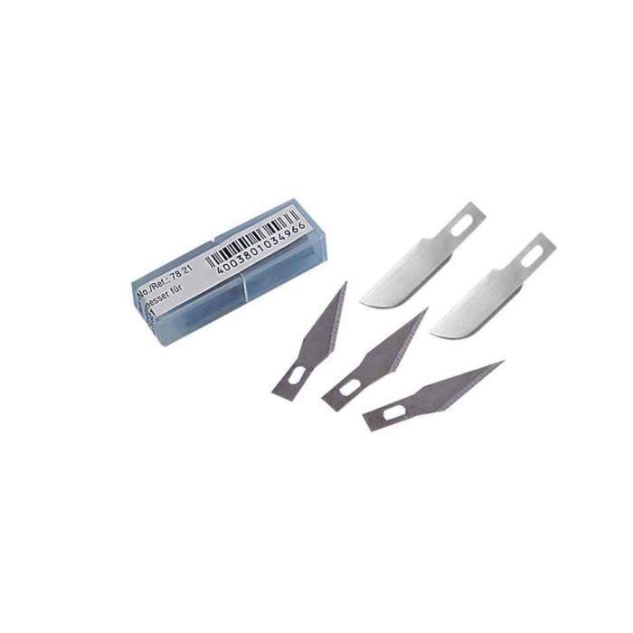 coffret Scalpel Cutter couteau artisanat en Acier inox 6 Lames de Rechange