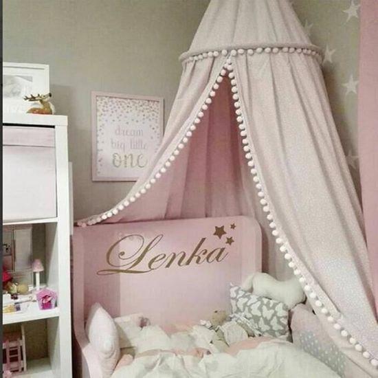 Longueur/: 270 cm En coton Lit /à baldaquin pour b/éb/é Moustiquaire pour chambre /à coucher Hauteur/: 240 cm