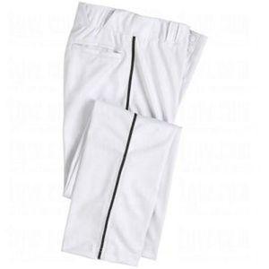 White Baseball Pantalon champro triple couronne fond ouvert Avec Rouge Passepoil