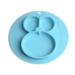 crabe bleu plaque en silicone antid/érapante Assiette en silicone avec ventouse avec 1 cuill/ère et 1 fourchette