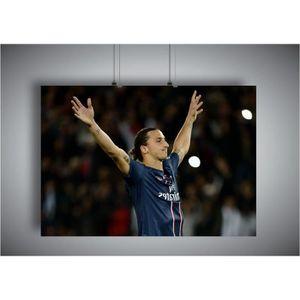 AFFICHE - POSTER Poster Zlatan IBRAHIMOVIC PSG Football - A4 (21x29