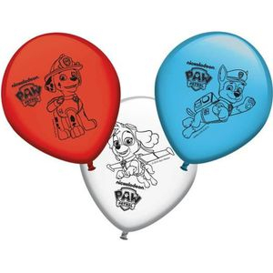 Piñata 8 Ballons en latex Pat'Patrouille