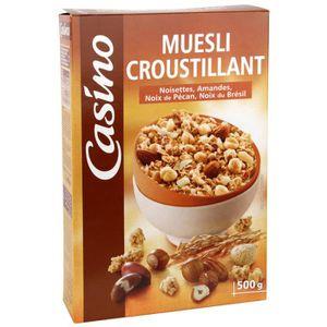 MUESLI FLOCON Muesli Céréales croustillants- Amandes - Noisettes