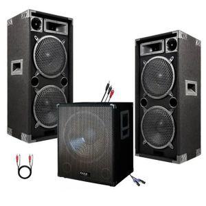 PACK SONO SONO DJ PACK 2800W CUBE 1512 avec CAISSON Amplifié