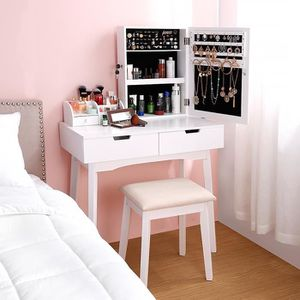 COIFFEUSE  Coiffeuse Table de Maquillage LANGRIA - 80x40x130