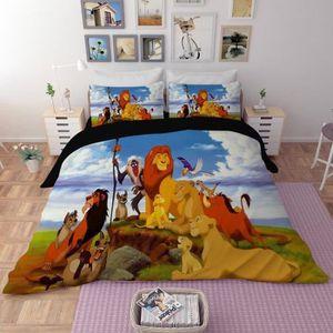 HOUSSE DE COUETTE SEULE Parure de lit Le Roi Lion 3D effet 150*200cm 3 pie