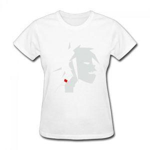 Gorillaz-logo-officiel Femme Bleu Marine Ajusté T-Shirt