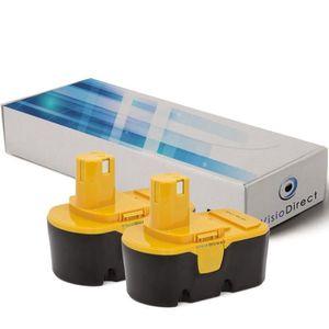BATTERIE MACHINE OUTIL Lot de 2 batteries pour Ryobi CDL1802P4 3000mAh 18