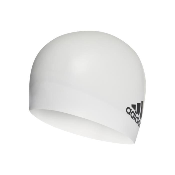 Bonnet de bain adidas Silicone Logo - blanc/noir - TU
