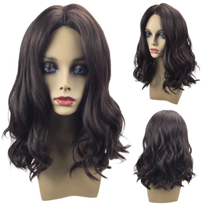 Brown Wigs Wavy Curly Long Heat Resistant Fiber Costume Party Wigs for Women wig 261