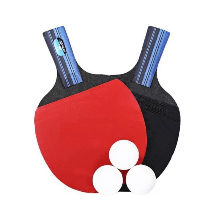 1 ensemble de raquettes de Tennis de Table Amateur peuplier Double face RAQUETTE DE TENNIS DE TABLE - CADRE DE TENNIS DE TABLE