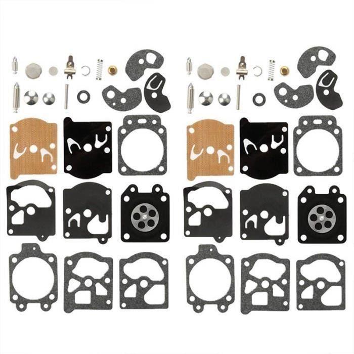 Lot de 2 Kit Réparation du Carburateur Joint Membrane Pour Walbro K10-WAT WA &amp WT Séries Stihl Husqvarna Poulan McCulloch A60322