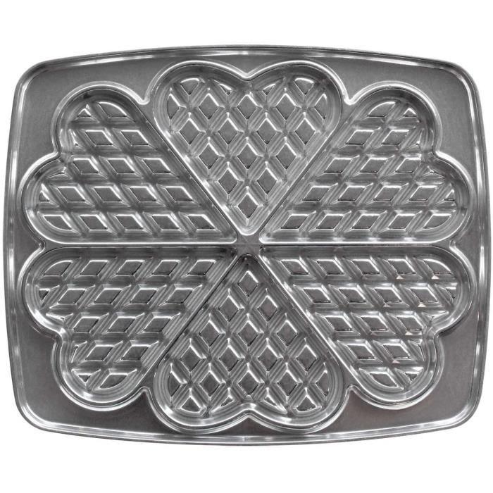 Lagrange 030521 Gaufres Cœur Plaques en fonte d'aluminium pour gauffrier (Compatible avec les références: 039111, 039211, 039411, 03