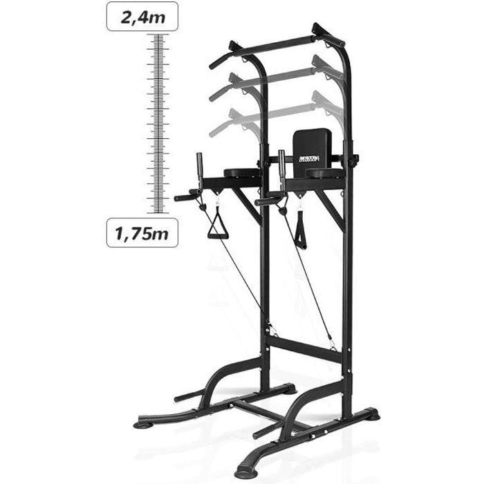 YEEZEE Barre de Traction,Station Reglable Multifonctions Barre de Traction dips