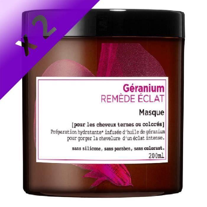 L'OREAL PARIS Botanicals Masque Soin Remède Eclat - Pour cheveux ternes ou colorés - 200 ml (Lot de 2)