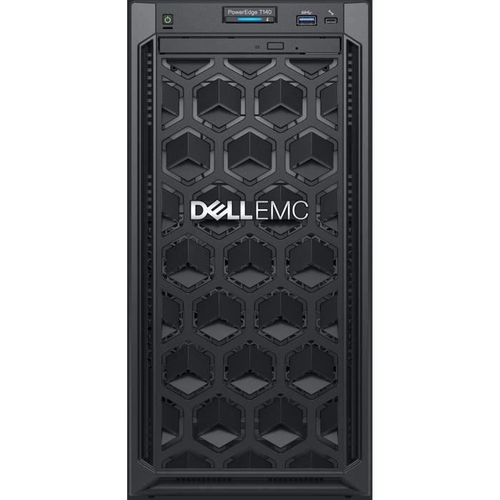 Dell Serveur Emc Poweredge T140 Mini tour 1 x Xeon E 2124 8 Go Ram 1 To Hdd Serial Ata Contrôleur