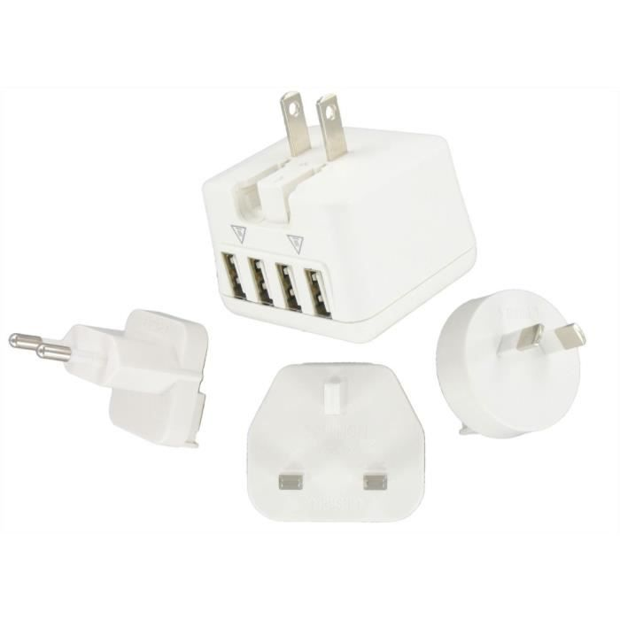 DLH Adaptateur secteur Energy - 24 W - Oui - USB - Pour Tablette PC, Smartphone, GPS, Console de jeu - 120 V AC, 230 V AC Entrée