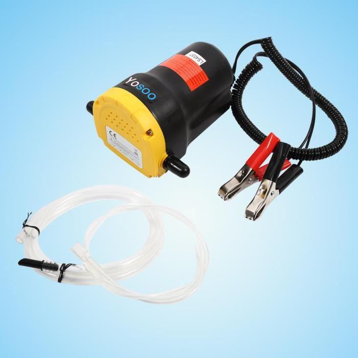 Ollowshop® Aspiration électrique de pompe d'extracteur de transfert de fluide d'huile diesel 12V pour le bateau de moto de vo Z8747