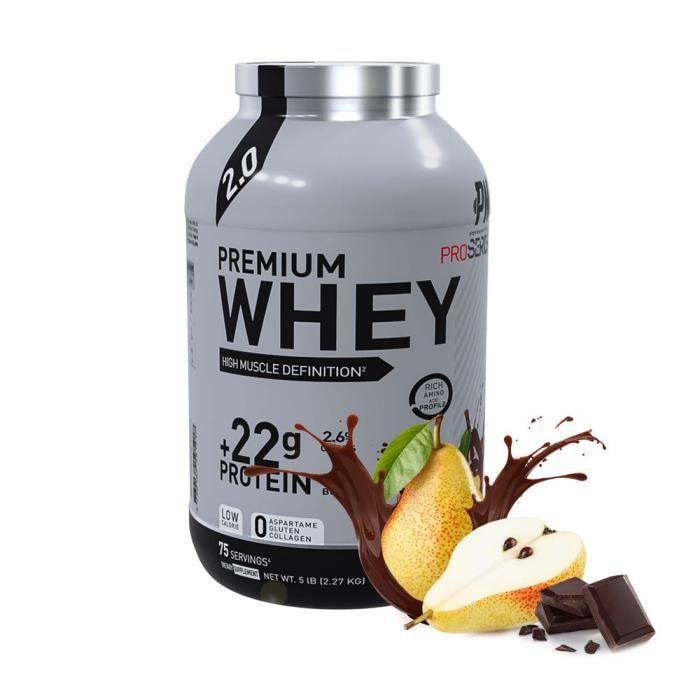 Eric Favre - Premium Whey Pro Series by Eric Favre - Bonnes Affaires - Chocolat - Poire - 2,27kg