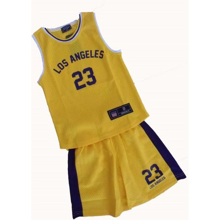 MAILLOT BASKET LOS ANGELES 4-6-8-10-12-14 ANS