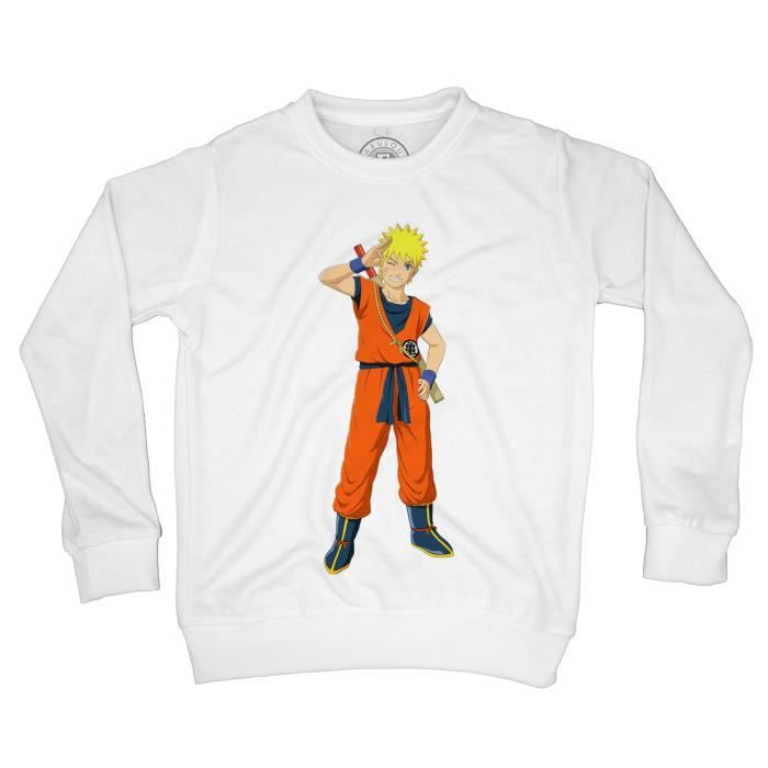 Sweat-Shirt enfant uzumaki naruto costume dragon ball cross over