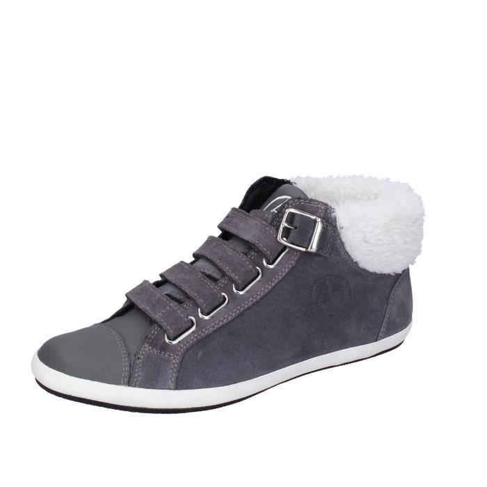 ARMANI JEANS Chaussures Femme Baskets Gris BK526