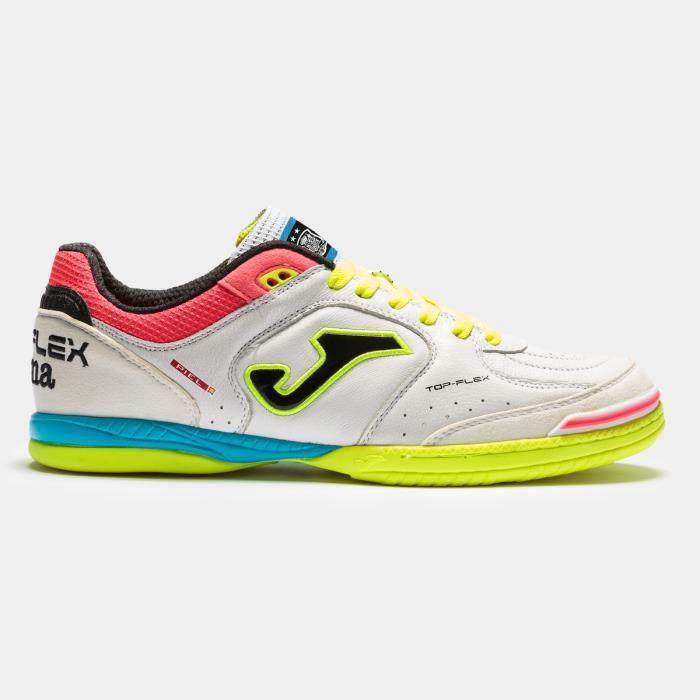 Chaussures de football Joma Top Flex Indoor 2052 RFEF - blanc/noir/jaune - 41
