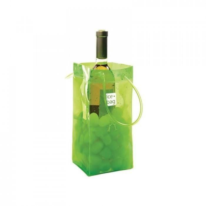 admirable cuisine arts de la table vins rafraichisseur ice bag - 17409 - seau a glace ice bag vert acidule 1 bouteille