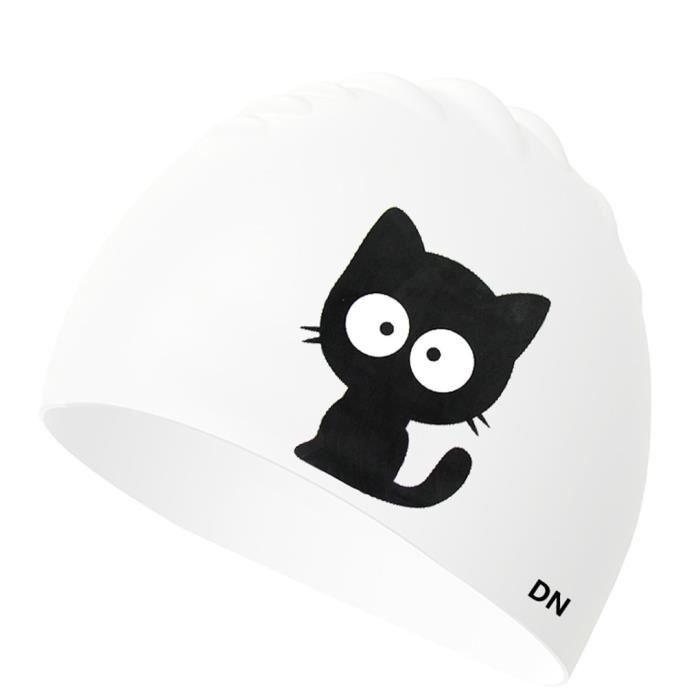 Joli Petit Bonnet de Bain Bonnet de Bain Enfants Fille garç on en Silicone Bonnet de Bain Natation Chapeau (100% Silicon