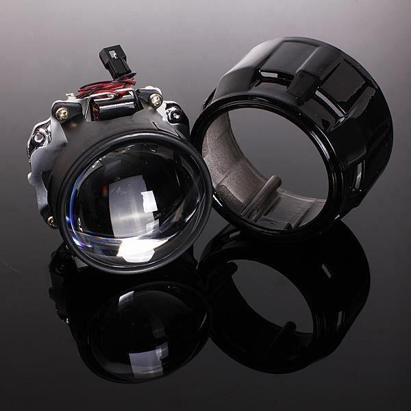 HT23793-NEUFU 2.5'' Mini Bi-xénon HID LED Projecteur Phare Lentille Angels Eyes H1 H4 H7 Auto LHD