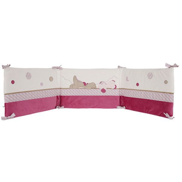tour de lit bebe victoria et lucie noukies rose achat. Black Bedroom Furniture Sets. Home Design Ideas