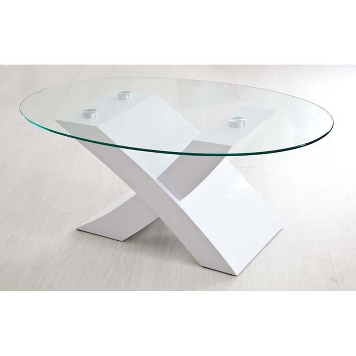 Table basse laqu e blanche achat vente table basse for Table laquee blanche