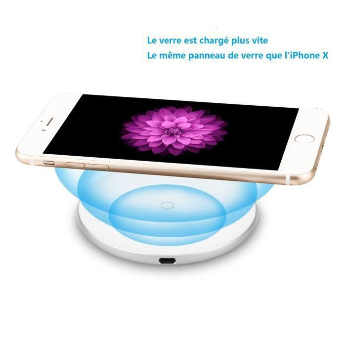 CHARGEUR TÉLÉPHONE Baseus 10W Qi Wirelss Chargeur Rapide Sans Fil à I