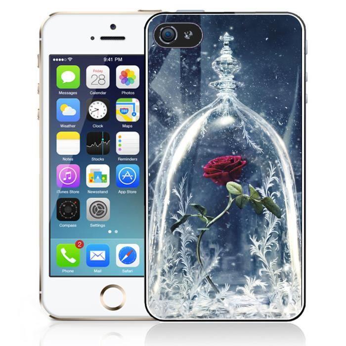 coque iphone 5 5s se rose la belle et la bete