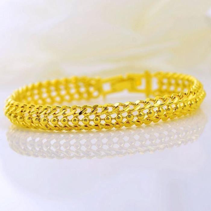 18K plaqué or Femmes Hommes serpent os Bracelet Gourmette en Fashion Bangle Bijoux