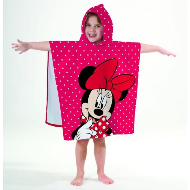 minnie poncho cape de bain 120 x 60 cm achat. Black Bedroom Furniture Sets. Home Design Ideas