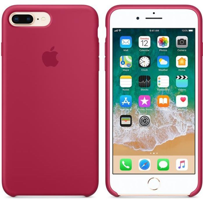 coque apple en silicone pour iphone 8 plus 7plus