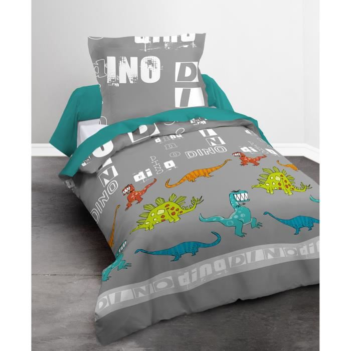 housse de couette 140x200 dinosaure achat vente pas cher. Black Bedroom Furniture Sets. Home Design Ideas